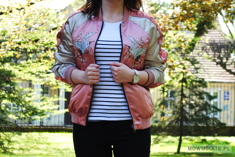 Z czym nosić bomberkę. How to wear bomber jacket