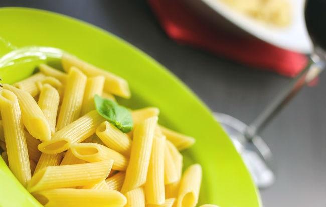Piatto di pasta senza altri ingredienti