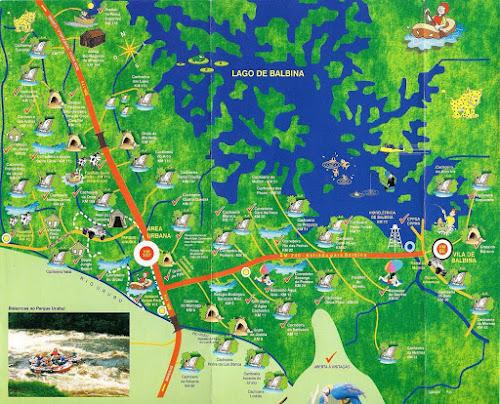 Mapa turístico de Presidente Figueiredo - AM