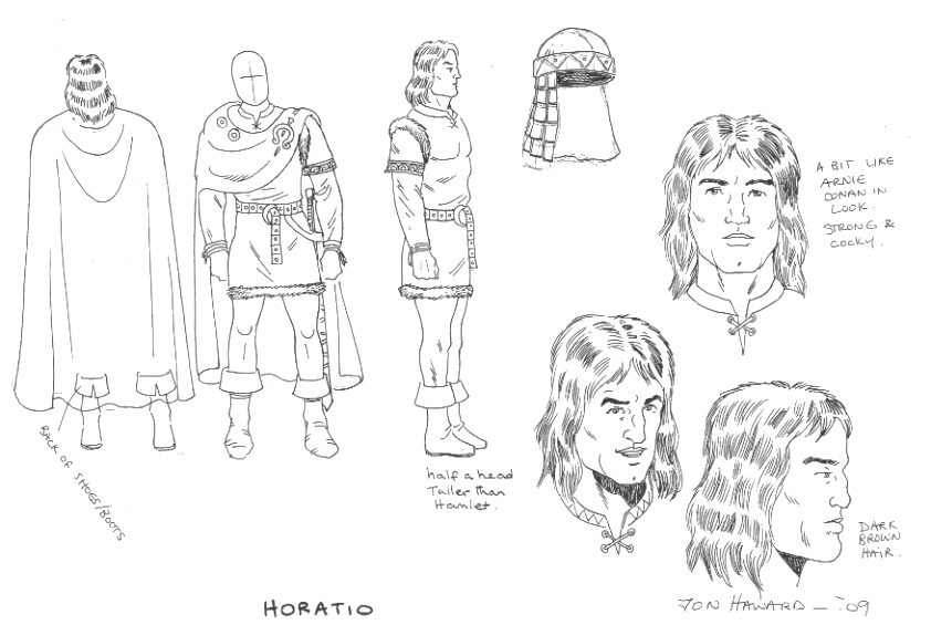 Hamlet Rough Cut Fortinbras Prince Of Norway Character Design