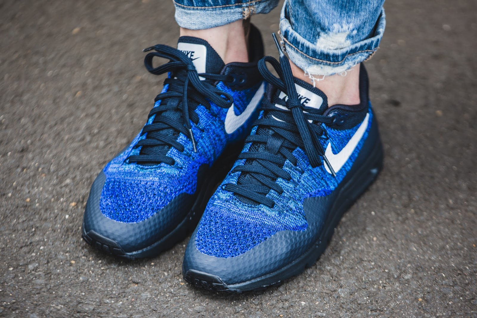 finest selection 4f850 2178a Nike WMNS Air Max 1 Ultra Flyknit (blue / black).