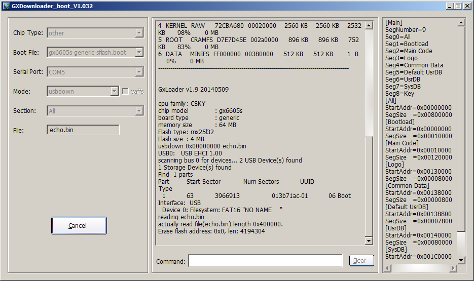 Cara Flash Receiver Chipset Guoxin Dengan RS232 di PC