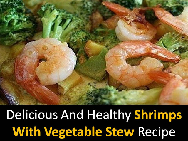 Shrimps with vegetable stew