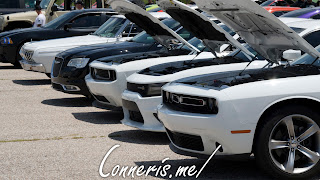 Dodge Charger Challenger Hoods up