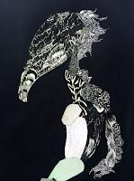 """Nelleke de Noo : Tree-Creature 2, exposition """"d'Inspiration Jérôme Bosch"""", Galerie de la Marraine"""