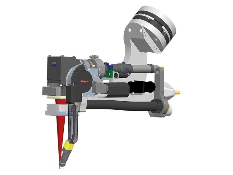 Сварочная головка обеспечивает оптимальную доступность при сварки трубопроводных систем