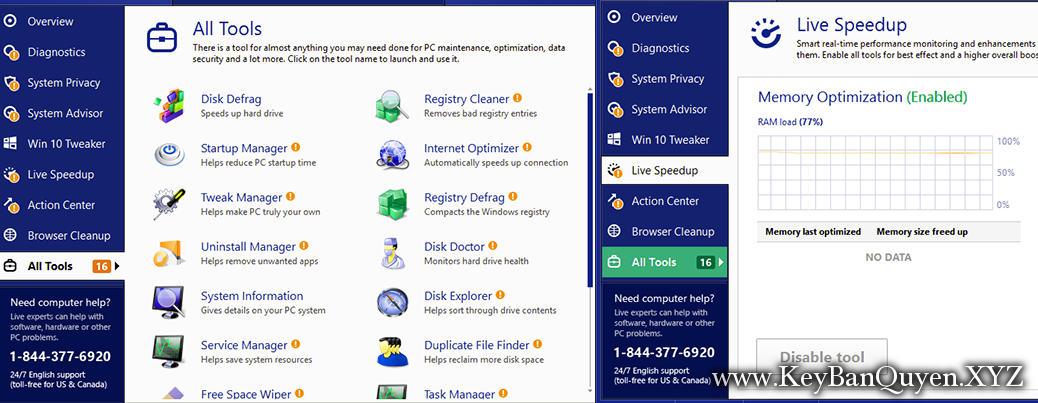 TweakBit PCSuite 10.0.20.0 Full Key Download, Lão đại trong việc bảo trì và tăng tốc máy tính của bạn.