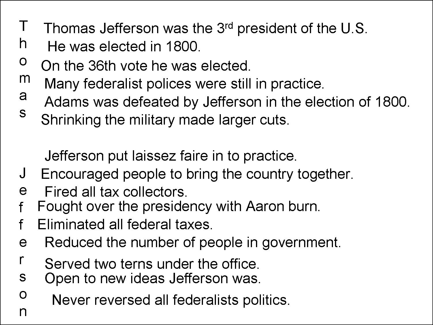 Workbooks thomas jefferson worksheets : Mr. von Kamp's American History Class: February 2011