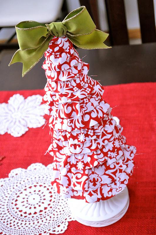 foam cone christmas tree tutorial {fabric covered ...