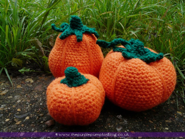 #Amigurumi #Crochet Pumpkins {Crafty October} at The Purple Pumpkin Blog