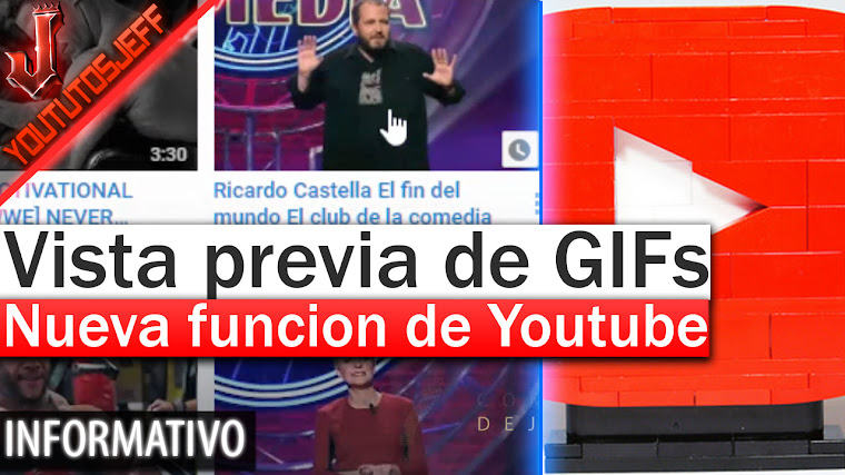 Youtube muestra una vista previa de videos como GIFs