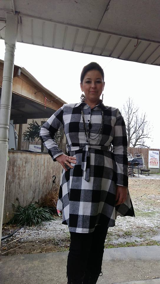a6bb801727 There are two colors available  red black and white grey black. The  Fancyinn Women Long Sleeve Plaid Tunic Shirt Dress ...