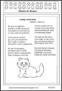 Cordel do gatinho alfabetização
