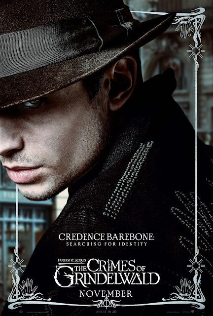 Pôsteres dos personagens de 'Os Crimes de Grindelwald' são divulgados | Credence Barebone | Ordem da Fênix Brasileira