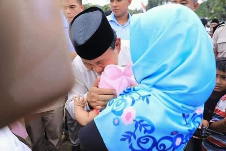Merinding! Begini Sambutan Warga Lombok kepada Prabowo