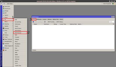 IP > DHCP Server > DHCP