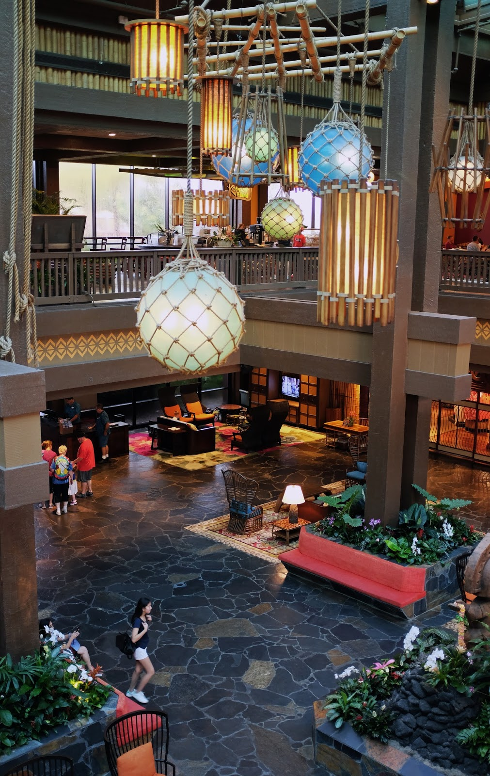 Polynesian Resort lobby at Walt Disney World