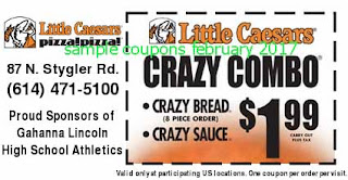 Little Caesars coupons february 2017