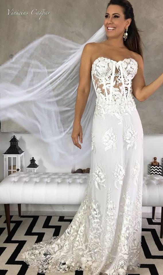 Vestido do dia by Estilista Vinicius Caspar - para as noivas sonharem no fim de semana!