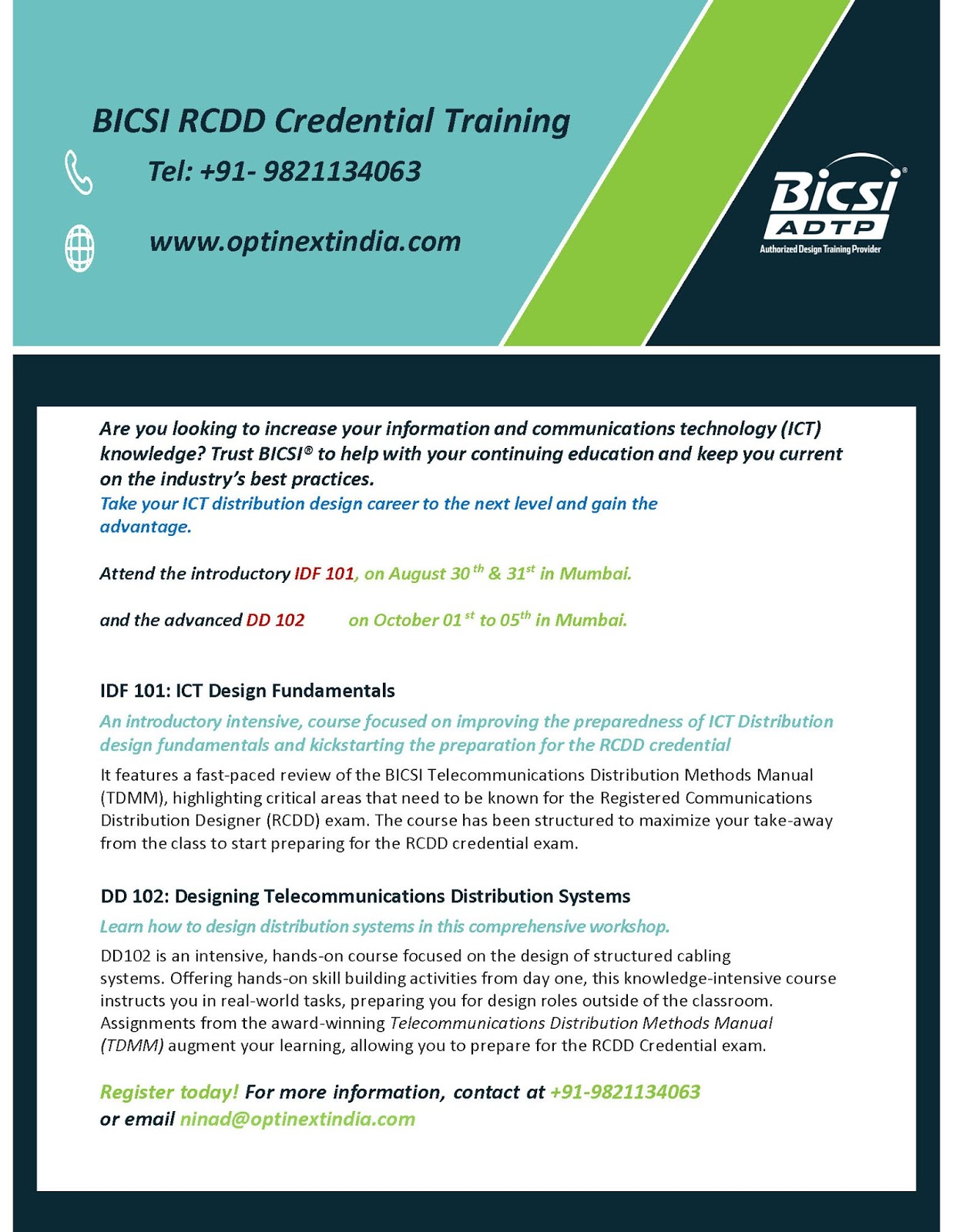 Bicsi India Fiber Optic Training Workshop 2015 Bangalore Lets