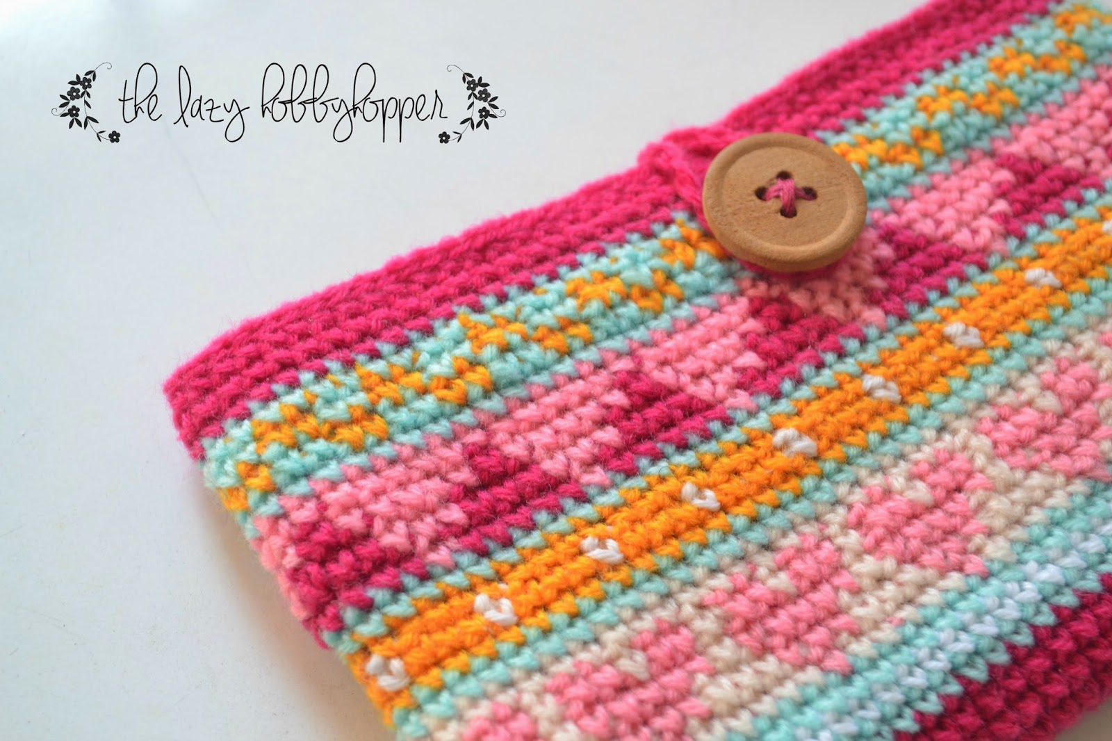 The Lazy Hobbyhopper: Tapestry crochet phone case and