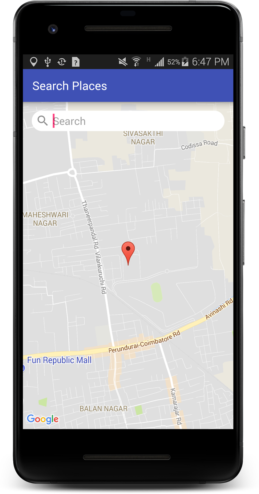 Map, Location update and AutoComplete Places - Kotlin