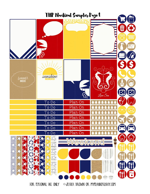 Page 1 of the THP Nautical Sampler on myplannerenvy.com