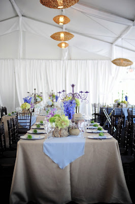 South Seas resort tent wedding