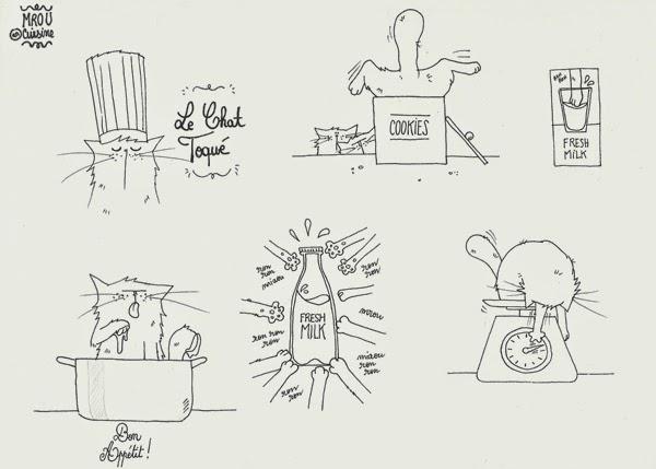 Pattes de Velours & Co, le blog de chat !: Chat en cuisine