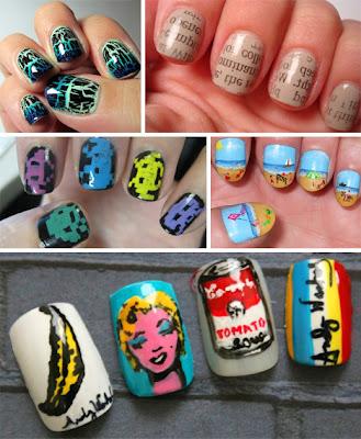Diseño de uñas  Pop art