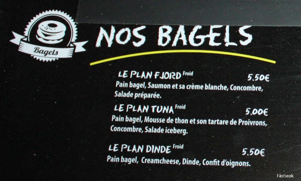 Menu restaurant Burger et Bagel à l'américaine :Le plan B