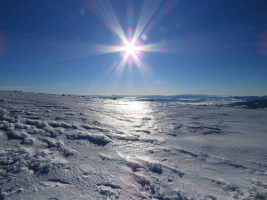 Krajobraz skuty lodem.