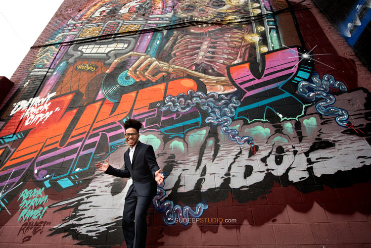 Graffiti Detroit Ann Arbor Senior Portrait Photography Ideas for Guys - Sudeep Studio.com