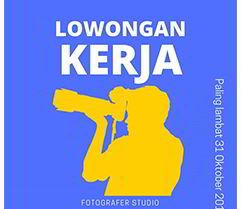 Lowongan Kerja Fotografer Studio