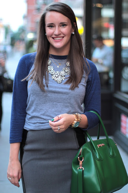 krista robertson, southern shopaholic, covering the bases, new york fashion blog
