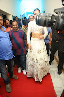 Catherine Tresa in Beautiful emroidery Crop Top Choli and Ghagra at Santosham awards 2017 curtain raiser press meet 02.08.2017 126.JPG
