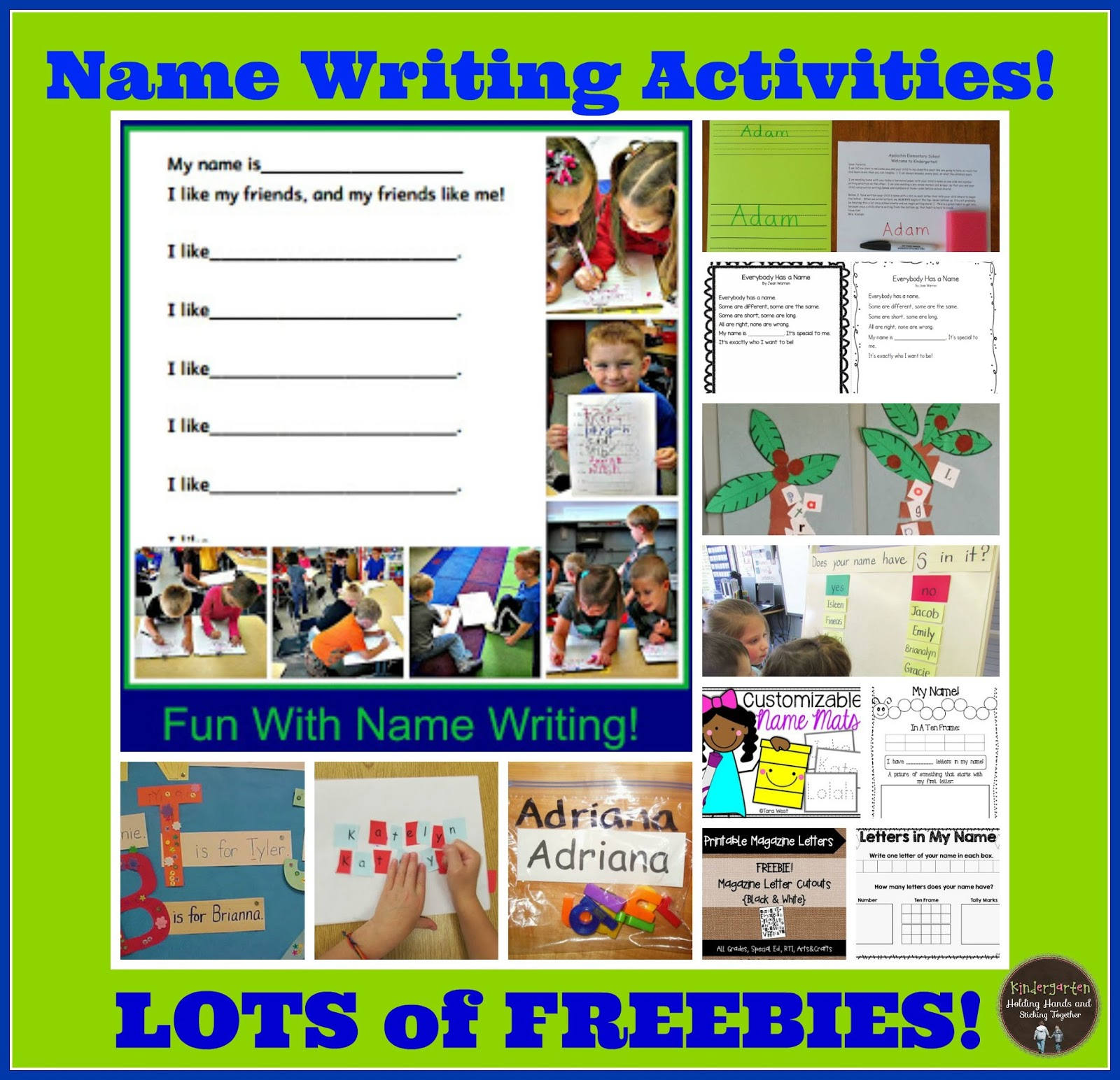 name writing activities
