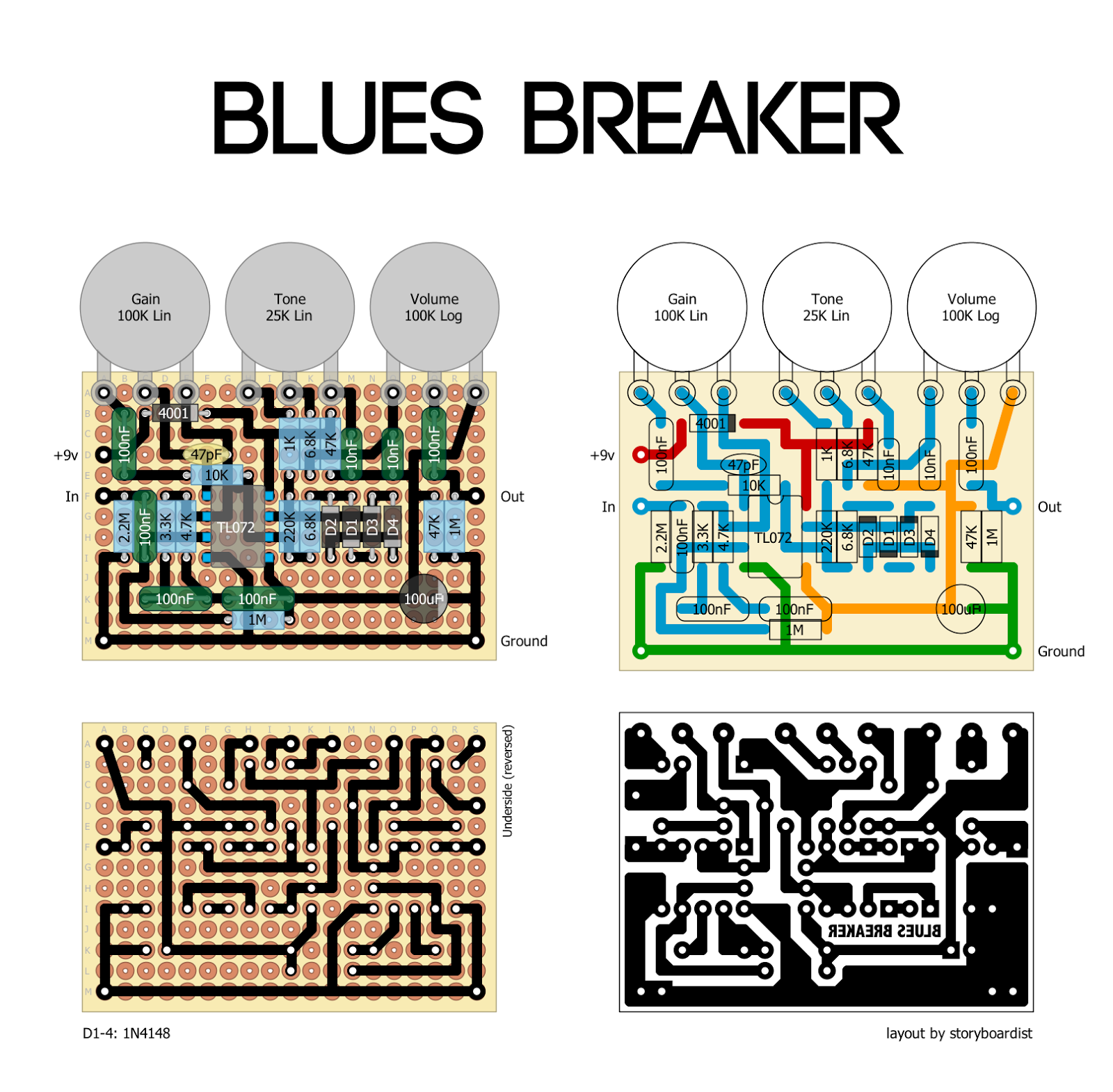 Perf and PCB Effects Layouts: Marshall Blues Breaker Mk.I Marshall Bluesbreaker Schematic on marshall 2061x, marshall dsl schematic, marshall combo, marshall jtm 45 schematic, marshall jcm 900 schematic, marshall class 5 schematic, marshall 1959 schematic, marshall dsl5c schematic, marshall jcm 2000 schematic, marshall jmp schematic, marshall jcm800 layout, marshall jcm800 schematic, marshall bluesbreaker amp, marshall blues breaker, marshall 2203 schematic, marshall 1962 schematic, marshall jtm50 schematic, marshall 18 watt schematic, marshall amp schematic, marshall 1987x schematic,