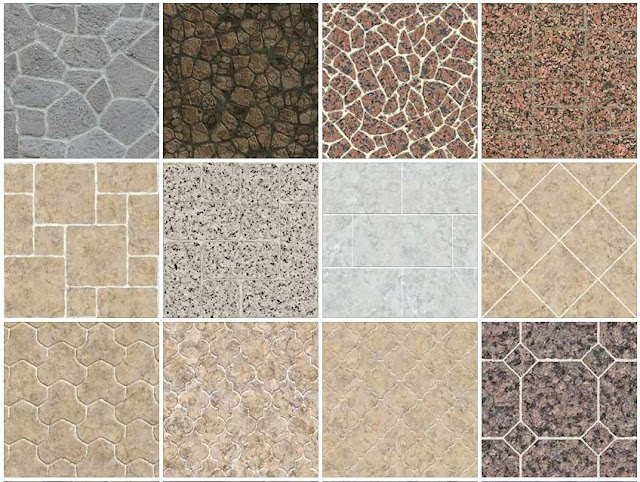 SKETCHUP TEXTURE TEXTURE OUTDOOR PAVING STONE COBBLESTONE