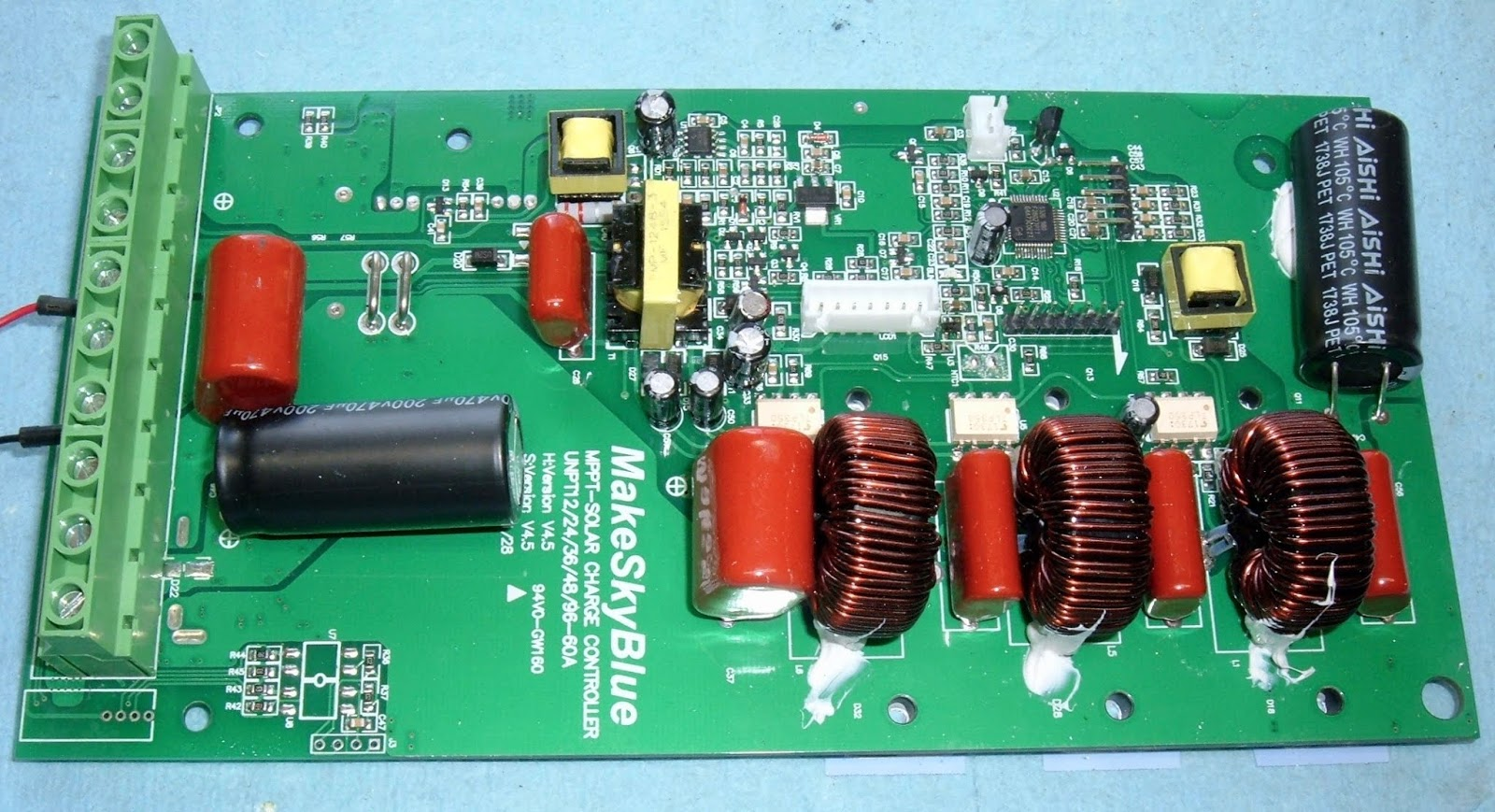 Syonyks Project Blog Whats The Difference Between A 150 And 600 Controller Wiring Schematic Also Mppt Solar Charge Circuit Unit Is Rated For Maximum Pv Input Voltage Of 190v Heres 200v Capacitor On Side Excellent