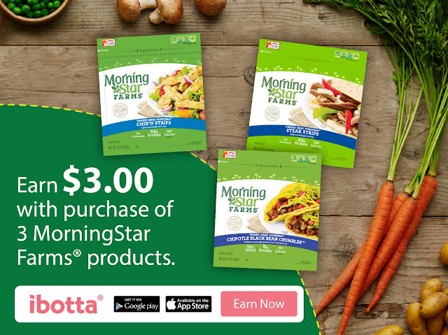 #DailyVegolutions, #ad, Ibotta coupons, MorningStar Farms® Ibotta Coupons, January 2017, February 2017