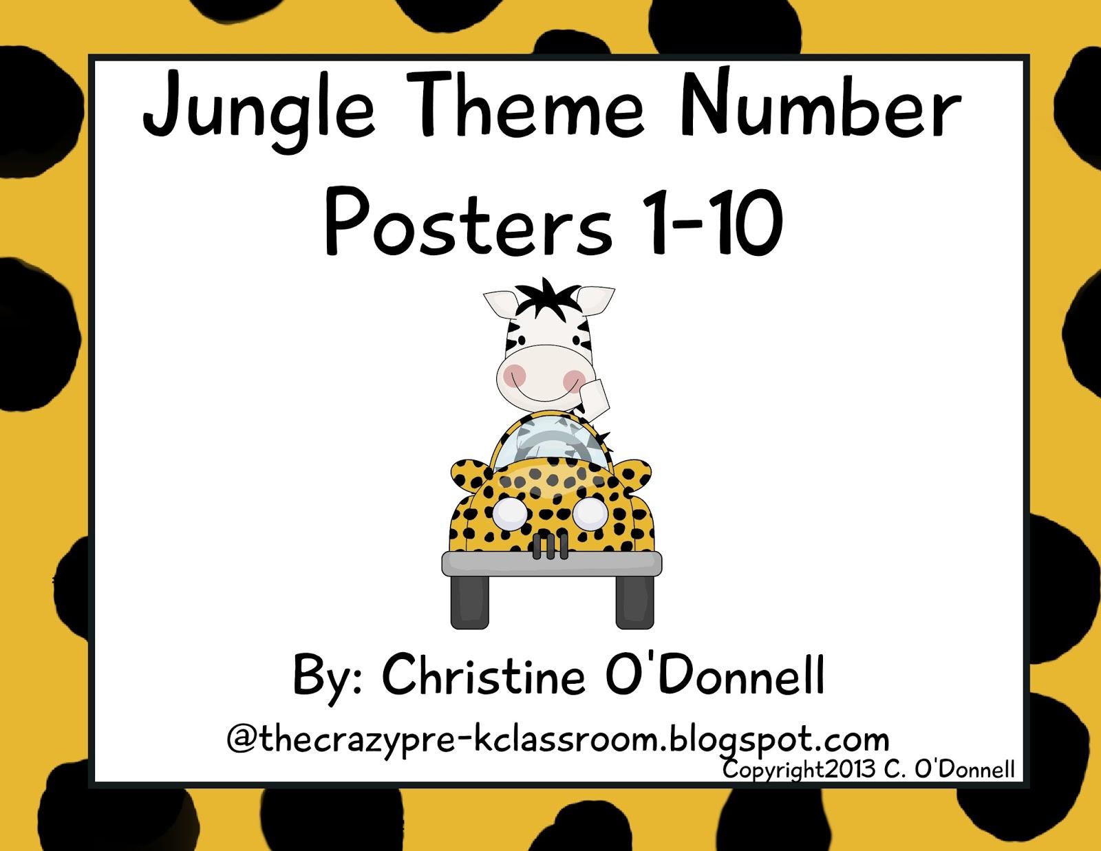 The Crazy Pre K Classroom New Freebie Jungle 1 10