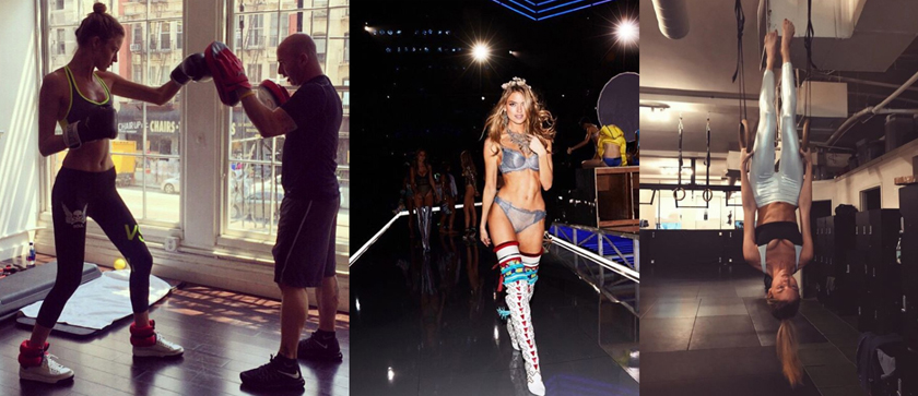 Victoria's Secret Angels - Fitness Food Healthy Living - Workout plan, Train like an angel, Martha Hunt, boxing, gymnastics
