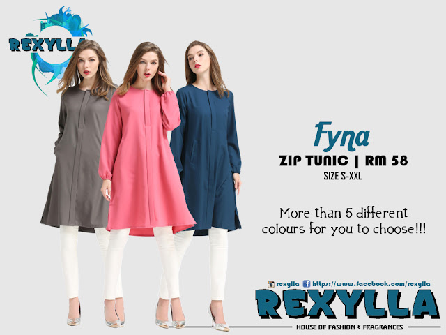 rexylla, hidden zip, zip tunic, hidden zip tunic, fyna collection