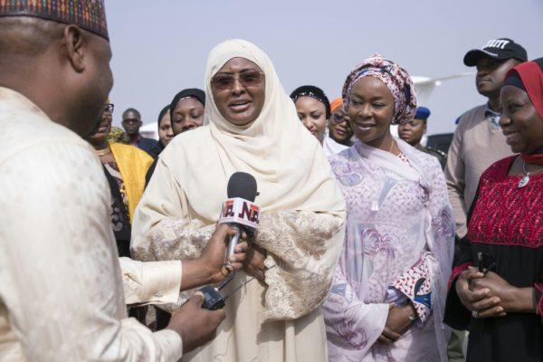Trending News: Aisha Buhari Back from trip, says she prayed for Nigerians