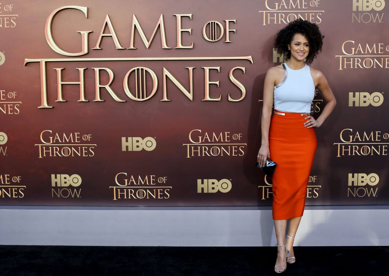 Nathalie Emmanuel at the 'Game of Thrones' Season 5 premiere in San Francisco