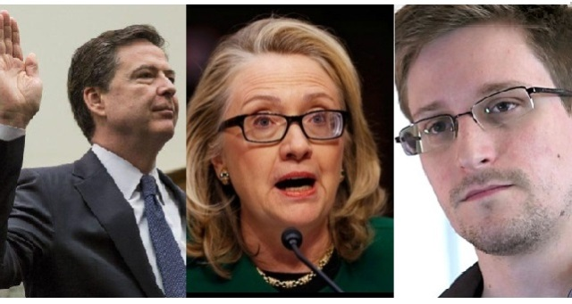 Edward snowden claims hillary rigged system