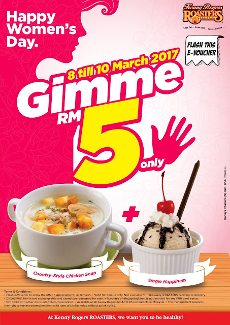 Kenny Rogers ROASTERS Malaysia Chicken Soup Ice Cream Happy Women's Day