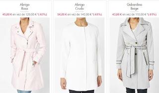 abrigos para mujer en oferta de la marca Riu