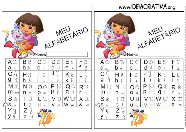 Alfabetário Dora Aventureira